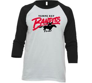 Tampa Bay Bandits USFL Football 3/4 Sleeve Raglan Tee Shirt With Logo