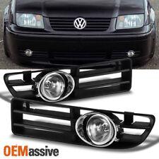 Fits 1999-2005 VW Jetta Clear Bumper Fog Lights Lamps w/Switch + Bulbs + Bezel