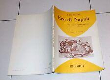 Spartiti De Meglio ECO DI NAPOLI Volume 3 - Ricordi 1978 Songbook napoletane Vol