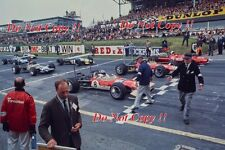 Graham Hill Gold Leaf Team Lotus 49B British Grand Prix 1968 Photograph 3