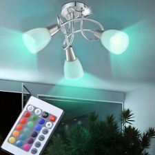 RGB LED Cover Spotlight Lamp Light Remote Control Dimmable Eek A