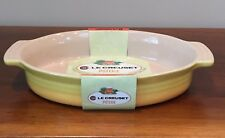 "Le Creuset 11"" OVAL BAKING DISH Stoneware Citrus Yellow ~ NEW"