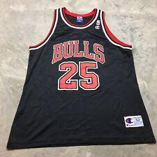 90s VTG STEVE KERR Champion CHICAGO BULLS Size 52 XXL Jersey OG Black NBA Mint