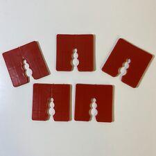 5 Stück Distanzklötze Kunststoff Abstandhalter Unterleger Trageklötze rot 3mm
