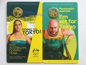 2020 Australian Olympic & Paralympic Team Ambassador $1 dollar Coin UNC