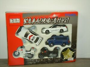 Police Set Cars and Bikes - Tomica in Box *48052