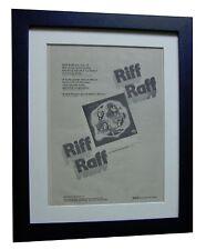 RIFF RAFF+LP+ALBUM+TOUR+POSTER+AD+RARE ORIGINAL 1973+FRAMED+EXPRESS GLOBAL SHIP