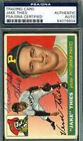 Jake Theis 1955 Topps Psa Dna Coa Autograph Authentic Hand Signed