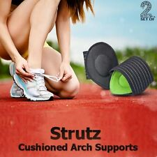 STRUTZ CUSHIONED FOOT ARCH SUPPORT SHOCK ABSORBING PAIN RELIEF 1 PAIR
