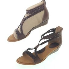144fc707d5b3 Born Concept Women s Klara Braided Strap Wedge Sandals 8 39 Light Brown    Z29641