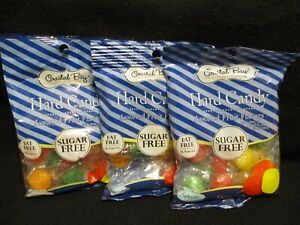 Coastal Bay FAT & SUGAR FREE Assorted FRUIT Flavored Hard Candies/Candy} 3 BAGS