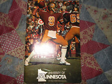 1976 Minnesota Gophers Football Media Guide Tony Dungy Hof Indianapolis Colts Ad