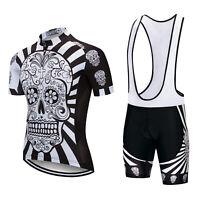 Mens Cycling Jersey Set Bicycle Bike Short Sleeve Clothing and Bib Shorts XJ48