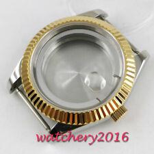 40mm steel sapphire glass automatic Watch Case fit ETA 2836 MIYOTA 8215 MOVEMENT