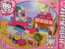beach club hello kitty costruzioni building bricks set construction blocks 8664