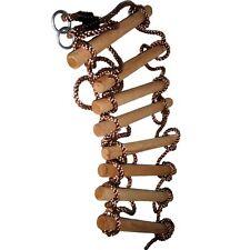 Strickleiter 8 Sprossen Schwer Kletterleiter Seilleiter 2,90 m Holzsprossen Neu