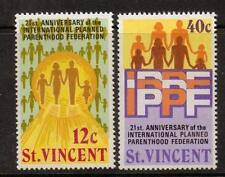 ST.VINCENT SG372/3 1973 21st ANNIV OF INT PLANNED PARENTHOOD MNH