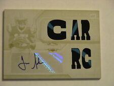 2012 Topps Triple Threads Joe Adams Carolina Panthers Arkansas Patch Auto 1/1