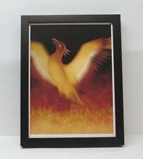 """The Mythical Phoenix Rising From Ashes Framed Giclee Print 10"""" x 13"""" New"""