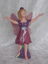 Brand New Ceramic Pink Purple Pansy Viola Flower Fairy Figurine Lady Ornament.
