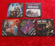 "5 Single 7"" Sammlung POP TOPS - Vinyl Schallplatten"