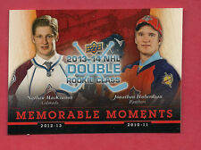 RARE 2014 NATIONAL HOCKEY CARD DAY NATHAN MACKINNON / HUBERDEAU ROOKIE SP CARD