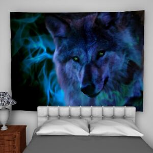 Wolf Animal Tapestry Wall Hanging Mandala Bedspread Indian Poster