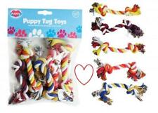 Puppy Toys Play Tug Dog Chew Fun 5pk