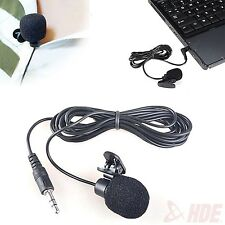 Mini 3.5mm Clip-On Microphone Lapel Hands Free Mic for PC and Mac