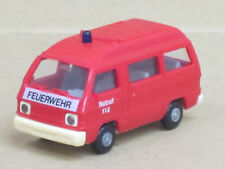 """Mitsubishi L 300 Bus Hochdach """"Feuerwehr Notruf 112"""", rot, o. OVP, Rietze, 1:87"""