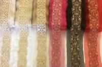 8cm DIY  Embroidery Net Lace Trim Dress Skirt Ribbon Costume Home Decor