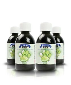 Pet/Dog Cleaner - 4x250ml Eco-Refill (Makes 4x5L) - Lime - Fresh Pet