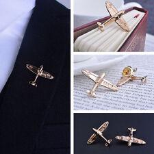 2er Gold Flugzeug Pin Brosche Souvenir für Pilot Flug Besatzung Kleidung Teil