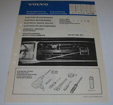 Einbauanleitung Volvo 340 mit B14 Motor elektrischer Motorwärmer Stand 02/1981!