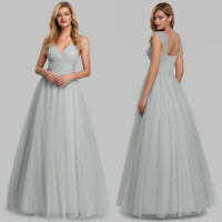 Ever-Pretty Wrap V-Neck Long Evening Prom Dress Cocktail Homecoming Party Gowns