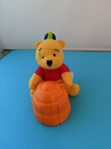 McDonalds Winnie the Pooh  Clip On Plush Keychain w/  hive and stickers