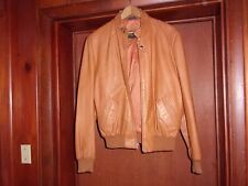 GOLDEN STATE TAN LEATHER JACKET SIZE 44