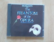 THE PHANTOM OF THE OPERA . CD Highlights From, Original London Cast,  EX+