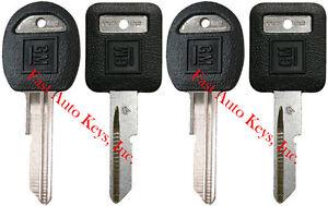 "4 NEW GM Logo OEM ""A"" IGNITION +""B"" DOORS/TRUNK Key Blanks Uncut 593196 + 593197"
