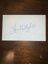 JIM GALLAGHER JR - GOLFER - AUTOGRAPH SIGNED - INDEX CARD -AUTHENTIC - C822