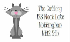260 Personalised printed Labels for / Address / handmade by / hobbies design 6