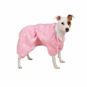 Dog Pajamas Winter Snowflake Pink Fleece Soft Elasticized Waistband Zack & Zoey
