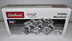 Edelbrock 2116 Performer Vortec Manifold For 262-400 Chevy V8s (NON-EGR)