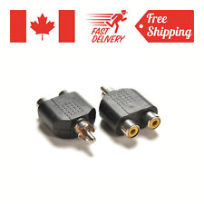 RCA Y Splitter Audio Video Plug Converter Cable Adapter 1 Male to 2 Female