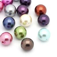 PD: 20 Mix Rund Acryl Spacer Perlen Beads Kugeln Basteln 20mm