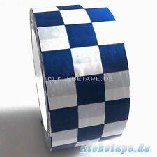 PVC Klebeband Karomuster 50mm x 66m Blau Weiss Schachbrett Muster