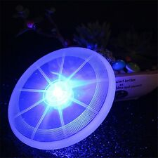 Pet Dog LED Frisbee Light Up Flying Disc Outdoor Night Colorful Fun Disk Toys
