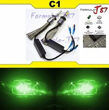 LED Kit C1 60W H1 Green Two Bulbs Head Light Replacement Show Use High Beam Lamp