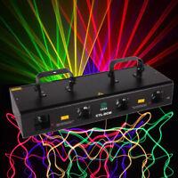 460mW 4 Beam Red Green Purple Yellow Laser Light DMX Stage DJ Bar Party Show 30W