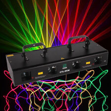 460mW 4 Lens Red Green Purple Yellow DJ Party Stage Show Laser Light 7 Channels